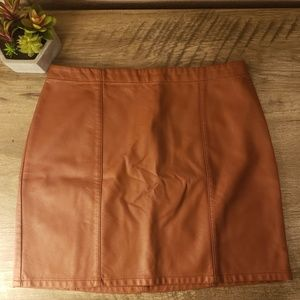 Forever 21 Faux Leather Light Brown Skirt